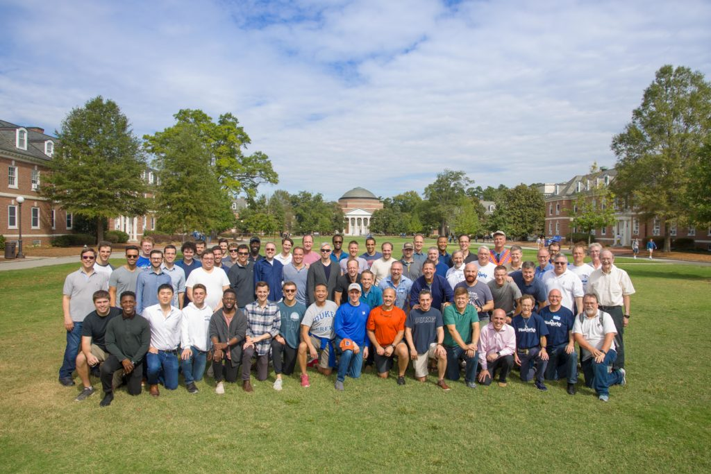 Pitchforks 40th anniversary group shot at Duke East Campus