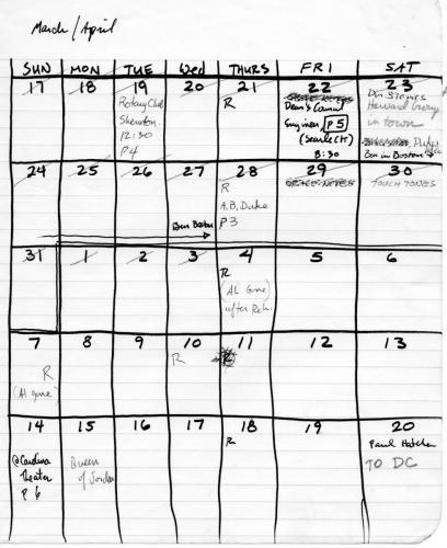 March April 1985 events